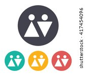 vector flat man and woman icon... | Shutterstock .eps vector #417454096