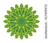 round mandala. arabic  indian ... | Shutterstock .eps vector #417459472