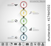 infographic design template and ... | Shutterstock .eps vector #417464332