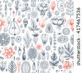 floral elements background.... | Shutterstock .eps vector #417467536