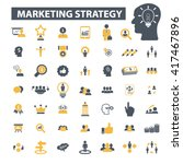 marketing strategy icons  | Shutterstock .eps vector #417467896