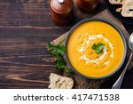Pumpkin And Carrot Soup With...