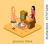 isometric interior of grocery...   Shutterstock .eps vector #417471646