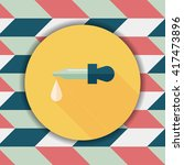 dropper flat icon with long...