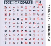 health care icons  | Shutterstock .eps vector #417478882