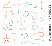 sketch arrow set. vector... | Shutterstock .eps vector #417480136