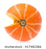 Cut Of Pumpkin Isolated On...