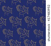 collection of seamless patterns.... | Shutterstock .eps vector #417483952