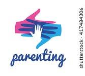 parenting logo template | Shutterstock .eps vector #417484306