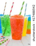 colorful summer slushies | Shutterstock . vector #417488542