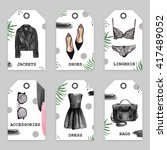 set of trendy tags with fashion ... | Shutterstock . vector #417489052