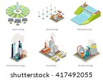 power plant icons. electricity... | Shutterstock .eps vector #417492055