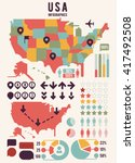 united states of america map... | Shutterstock .eps vector #417492508