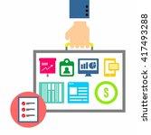 business illustration template  | Shutterstock .eps vector #417493288