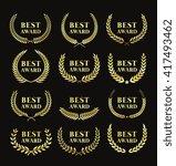 best award  logo set   golden... | Shutterstock .eps vector #417493462