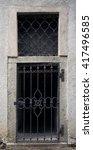 big metallic old door....   Shutterstock . vector #417496585
