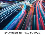 the car light trails in the city | Shutterstock . vector #417504928