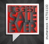 biggest super sale ever... | Shutterstock .eps vector #417511132