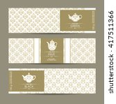 vector set of templates... | Shutterstock .eps vector #417511366