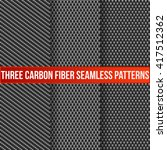 set of three carbon fiber... | Shutterstock .eps vector #417512362