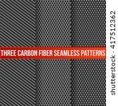 set of three carbon fiber... | Shutterstock .eps vector #417512362