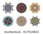 vector illustration. set of six ...   Shutterstock .eps vector #417514822