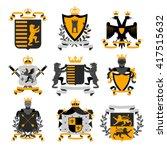 heraldic coat of arms family... | Shutterstock .eps vector #417515632