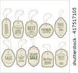 vintage style sale tags design | Shutterstock .eps vector #417517105