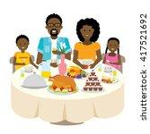 happy african american family... | Shutterstock .eps vector #417521692