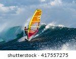 Windsurfer Rides Among The Hug...