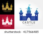 castle logo . abstract.... | Shutterstock .eps vector #417566485