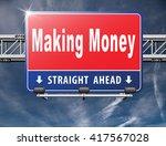 make money or earning cash... | Shutterstock . vector #417567028