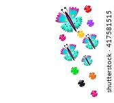 butterfly | Shutterstock .eps vector #417581515