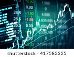 financial data on a monitor.... | Shutterstock . vector #417582325