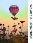 colorful hot air balloons | Shutterstock . vector #417585928
