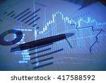stock market information and... | Shutterstock . vector #417588592