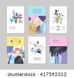 set of creative universal...   Shutterstock .eps vector #417592312