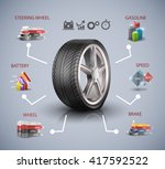 car wheel  infographic elements ... | Shutterstock .eps vector #417592522