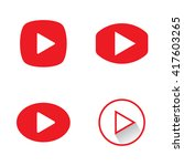 play button icons. red play... | Shutterstock .eps vector #417603265