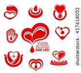 blood donation conceptual... | Shutterstock .eps vector #417618052