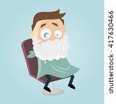 shaving cream cartoon man | Shutterstock .eps vector #417630466