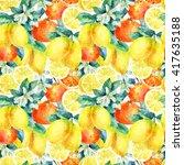 Watercolor Mandarine Orange And ...