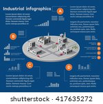 industrial infographics with... | Shutterstock .eps vector #417635272