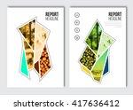business brochure design... | Shutterstock .eps vector #417636412