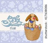 baby shower boy | Shutterstock .eps vector #417638086