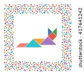 tangram cat lying  abstract...   Shutterstock .eps vector #417641242