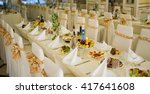 catering table set service with ... | Shutterstock . vector #417641608