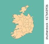 map of ireland   Shutterstock .eps vector #417643936
