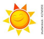 happy sun | Shutterstock .eps vector #41765353