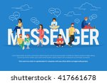 messenger concept illustration... | Shutterstock .eps vector #417661678